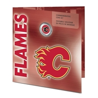 2008 Canada Calgary Flames NHL Coin set with Colourized Dollar.