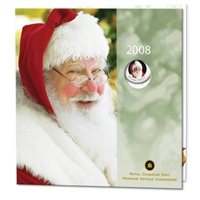 2008 Canada Holiday Commemorative Coin Set with colourized 25 cent.