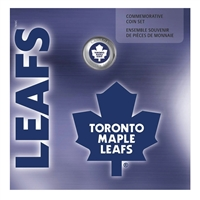 2008 Canada Toronto Maple Leafs NHL Coin set with Colourized Dollar.