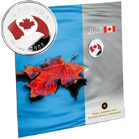 2008 Oh Canada 25-cent Gift Set - Canadian Flag.
