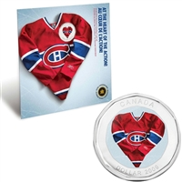2009 Montreal Canadiens NHL Coin Set with $1 coloured jersey
