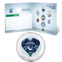 2009 Vancouver Canucks NHL Coin Set with $1 coloured jersey.