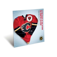 2009 Calgary Flames NHL Coin Set with $1 coloured jersey.