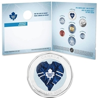 2009 Toronto Maple Leafs NHL Coin Set with $1 coloured jersey