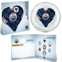 2009 Edmonton Oilers NHL Coin Set with $1 coloured jersey