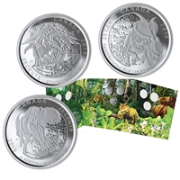 2019 25-cent Dinosaurs of Canada Coin Set
