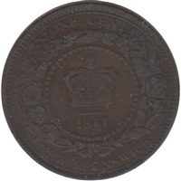 1861 New Brunswick 1 Cent F-VF (F-15)