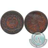 1864 Short 6 New Brunswick 1 Cent Fine (F-12)