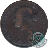 1864 Short 6 New Brunswick 1 Cent G-VG (G-6)