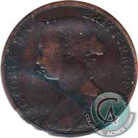 1864 Short 6 New Brunswick 1 Cent Very Good (VG-8)