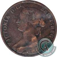 1864 Short 6 New Brunswick 1 Cent VG-F (VG-10)
