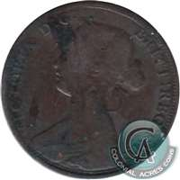 1864 Tall 6 New Brunswick 1 Cent G-VG (G-6)