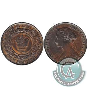 1864 Tall 6 New Brunswick 1 Cent VF-EF (VF-30)