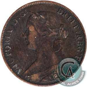 1861 New Brunswick 1 Cent Very Fine (VF-20)