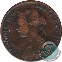 1861 New Brunswick 1 Cent Very Good (VG-8)