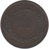1861 New Brunswick 1 Cent VF-EF (VF-30)