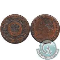 1861 Nova Scotia 1/2 Cent Uncirculated (MS-60) $