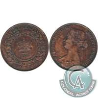 1861 Large Bud Nova Scotia 1 Cent F-VF (F-15)