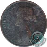 1861 Large Bud Nova Scotia 1 Cent G-VG (G-6)
