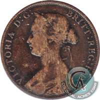 1861 Large Bud Nova Scotia 1 Cent Very Good (VG-8)