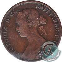 1861 Large Bud Nova Scotia 1 Cent VG-F (VG-10)