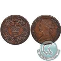 1861 Small Bud Nova Scotia 1 Cent Extra Fine (EF-40)
