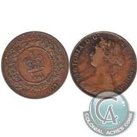 1861 Small Bud Nova Scotia 1 Cent Fine (F-12)
