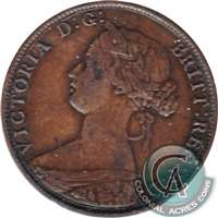 1861 Small Bud Nova Scotia 1 Cent F-VF (F-15)