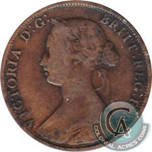 1861 Small Bud Nova Scotia 1 Cent Very Good (VG-8)