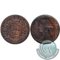 1864 Nova Scotia 1 Cent EF-AU (EF-45) $
