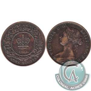 1864 Nova Scotia 1 Cent Very Fine (VF-20)