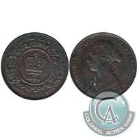 1864 Nova Scotia 1 Cent VF-EF (VF-30)