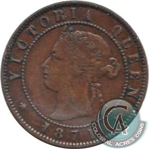 1871 Prince Edward Island 1-cent Very Fine (VF-20)