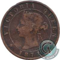 1871 Prince Edward Island 1-cent Very Good (VG-8)