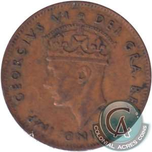 1943C Newfoundland 1-cent Very Fine (VF-20)