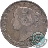 1872H Newfoundland 10-cents Fine (F-12) $