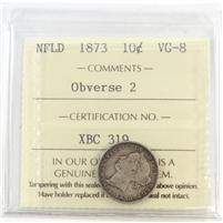 1873 Newfoundland 10-Cents ICCS Certified VG-8 Obverse 2
