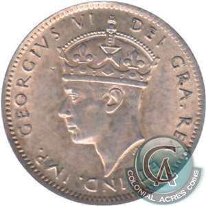 1945C Newfoundland 10-cents Almost Uncirculated (AU-50)