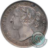 1894 Obv. 1 Newfoundland 20-cents Very Fine (VF-20) $