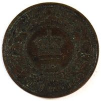 1864 Nova Scotia 1/2 Cent EF-AU (EF-45)