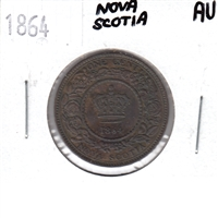 1864 Nova Scotia 1 Cent Almost Uncirculated (AU-50)