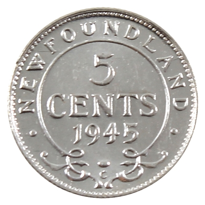 1945C Newfoundland 5 Cents UNC+ (MS-62)