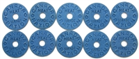 Group lot of 10 x Canada Meat Ration Tokens. (Mega13)