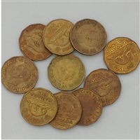 10 x 1942 Tombac 5 Cents in average circulated condition (Mega23)