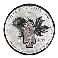 2019 $2 Canada First Special Service Force 1/2oz .9999 Silver (No Tax) Devil's Brigade