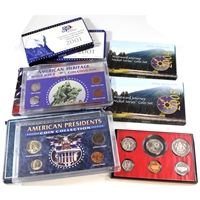 Group Lot of USA Historical and Commemorative Coin Sets. 7Pcs. Impaired.
