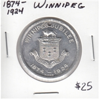 1874-1924 Winnipeg Jubilee Medallion Commemorating 50th Anniversary.