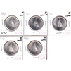 Lot of 5x 1967 Canada 50-cents BU (MS-63) impaired. 5pcs