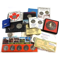 Group Lot of Canada Commemorative Coins and Tokens. 15Pcs Total.