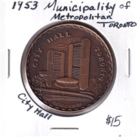 1953 Municipality of Metropolitan Toronto - City Hall Medallion